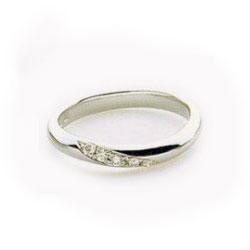 プラチナ1000 指輪 メレダイヤ付き