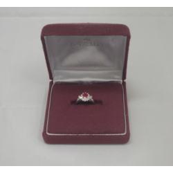 プラチナ850 ルビー ダイヤモンドリング
