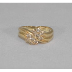 K18 指輪 メレダイヤ付き