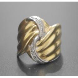 K18 プラチナ850 コンビ指輪