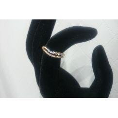 K18 ピンクゴールド メレダイヤ付きリング