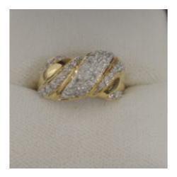 K18 メレダイヤ付き指輪