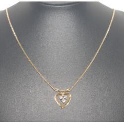 K18 ネックレス メレダイヤ付き
