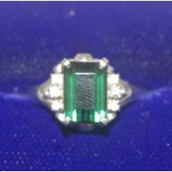 プラチナ900 エメラルドリング