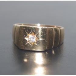 K18 メレダイヤ付きリング