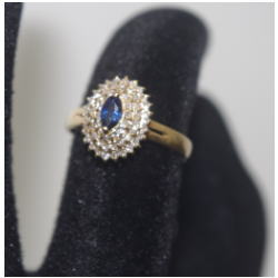 K18 メレダイヤ付き 指輪