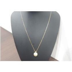 K18 パールネックレス メレダイヤ付き
