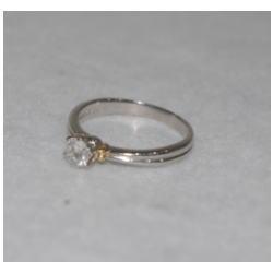 プラチナ900 K18 ダイヤモンドリング