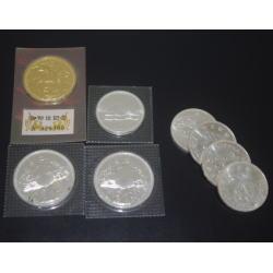 純金 純銀 記念硬貨