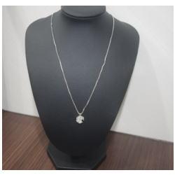 プラチナ850 ダイヤモンド付きネックレス