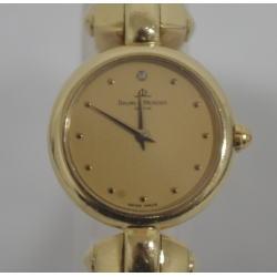 ボーム&メルシエ K18 金無垢 1Pダイヤ レディース腕時計