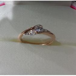 プラチナ950 K18コンビ ダイヤモンドリング