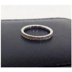 プラチナ900 メレダイヤつきリング