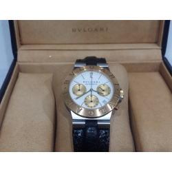 ブルガリ時計 ディアゴノ クロノ K18コンビ