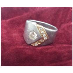 プラチナ900・K18 コンビ ダイヤモンドリング