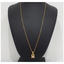 ダイヤモンド付 K18ネックレス