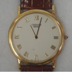 セイコー クレドール K18YG メンズ クォーツ腕時計 8J80-7000