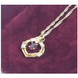 K18 メレダイヤ付ネックレス