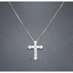 プラチナ850 ダイヤモンド クロスペンダント