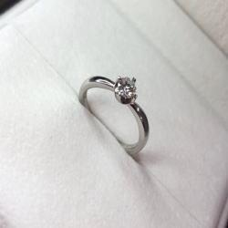 プラチナ900 ダイヤモンドリング 0.306ct