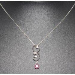 質預り・買取り品-宝石,金 ネックレス ピンクサファイア