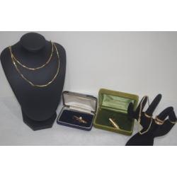 質預り・買取り品-金 ネクタイピン ネックレス ブレスレット 指輪