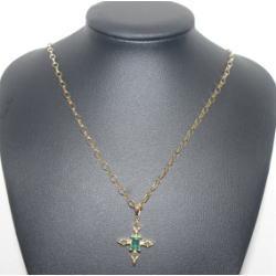 質預り・買取り品-宝石,金 エメラルド ネックレス