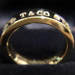 ティファニー 1837 ナロー 2Pダイヤモンドリング K18YG