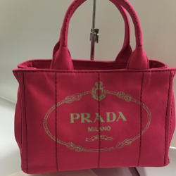 PRADA プラダ カナパ 2wayバッグ 1BG439 ピンク Gカード付