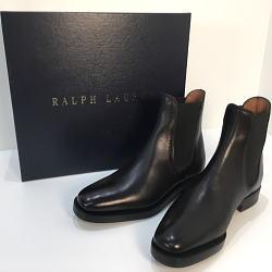 RALPH LAUREN ラルフローレン サイドゴアブーツ 黒 サイズ7E / 25.5cm