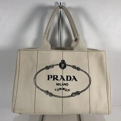 PRADA プラダ カナパ ハンドバッグ Mサイズ アイボリー