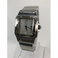 Cartier カルティエ K18YGコンビ サントスガルベ LM 187901 メンズクオーツ腕時計