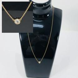 ティファニー K18 エルサペレッティ バイザヤードネックレス 1Pダイヤモンド