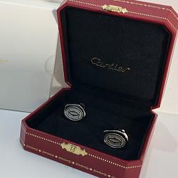 カルティエ Cartier 2C ワックス シール モチーフ カフリンクス シルバー925