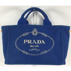 プラダ PRADA カナパ トートバッグ BN1877 ブルー