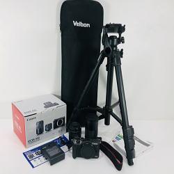 キャノン EOS M6 ダブルズームキット 2420万画素 / Velbon CX-888 三脚付