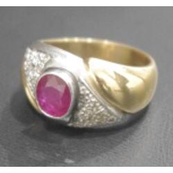 質預り・買取り品-プラチナ,宝石,金 ルビー 指輪
