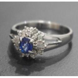 質預り・買取り品-プラチナ,宝石 サファイア 指輪