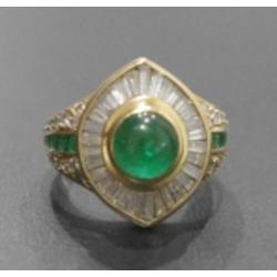 質預り・買取り品-ダイヤモンド,宝石,金 エメラルド 指輪